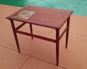 Mid century Danish modern teak end table