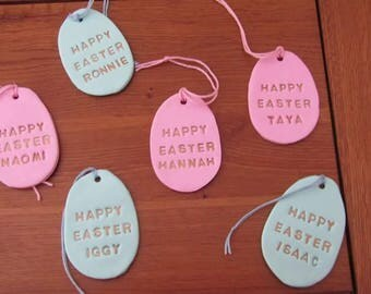 Easter egg decoration, Easter hanging decoration, Clay Easter decoration, Hanging Easter decoration, Hanging egg decoration, Easter Decor