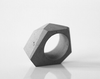 Concrete ring, minimalist ring, modern ring, concrete jewelry, architectural rings, gift for her and architect, handmade product