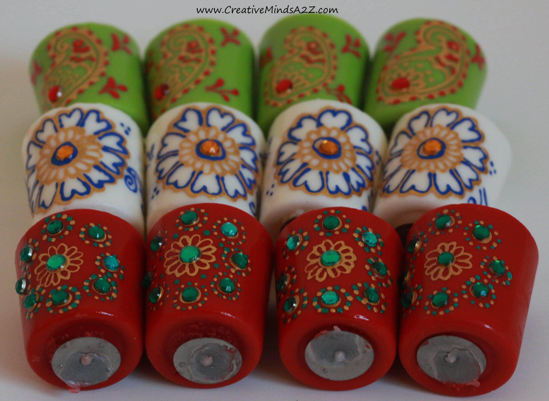 Handpainted Scented Votives Diwali Decor Home Decor Wedding Decor