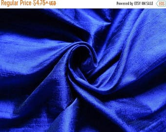 5% off Pure Silk Fabric, Pure Dupioni Silk Fabric, Silk Fabric, Indian Silk Fabric, Blue Silk Fabric