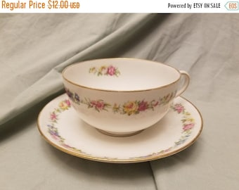 """Large Richard Briggs co Boston made in frand Cup and saucer 6 3/4"""" Saucer Big cup"""