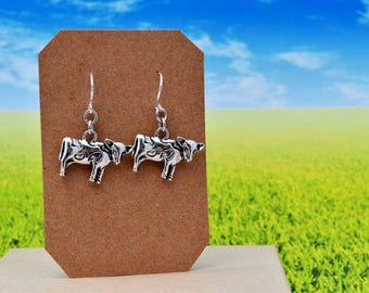 Cow Earrings, Cow Gift, Cow Jewelry, Cow Jewelry, Farm Earrings, Farm Animals, Spring Earrings, Spring Jewelry