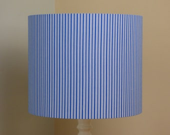 Blue striped lampshade