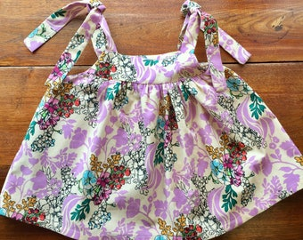 Summer Swing Top - Lavender Floral