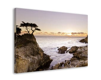 Sunset by the Rocky Shore - Framed Landscape Wall Art Canvas Print // 5 medium-large Sizes // High Quality // Fast & Free shipping to EU