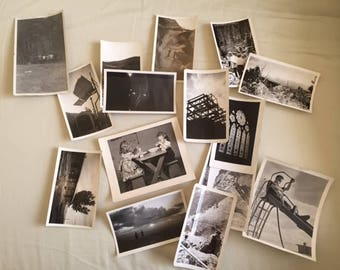 Vintage Set of Black and White Photos