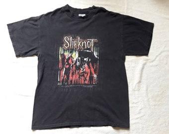 Vintage 90s Slipknot Tee . Vtg 1990s Heavy Metal T Shirt Korn System of a Down