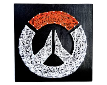 Overwatch Game Logo String Art- Video Game Man Cave or Game Room Decor