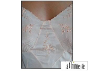 french VINTAGE NIGHTIE /Nuisette silk vintage french /Vintage /Nuisette 1930 silk Lingerie.