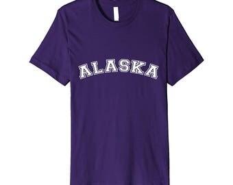 PREMIUM ALASKA Last Frontier Tshirt ALASKA Home State Tee