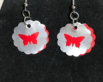 Butterfly Upcycled Earrings TRTV18BF FREE Shipping