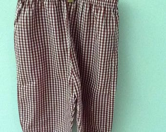 3T Maroon and White Checked Pants
