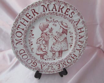 Crownford China CO Vintage decorative plate 1973 VTG Norma Sherman plate for a MOM or Grandma mid-century mothers day