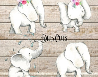 ELEPHANTS DIE CUTS // Perfect for decorating Planners and Travelers Notebooks