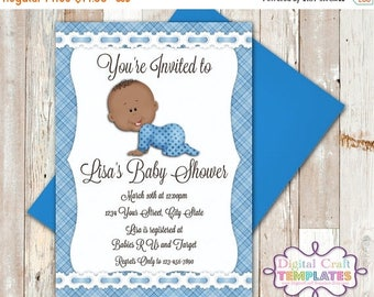 SALE Personalized Printable Invitations | Blue Plaid | Baby Shower | Birth Announcement |  #325