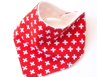 """Bandana with absorbent sponge """"more fantasy-red background"""""""