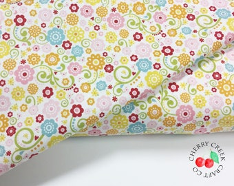 Multi Floral Quilt Fabric - Happy Day - Riley Blake Designs - Lori Whitlock