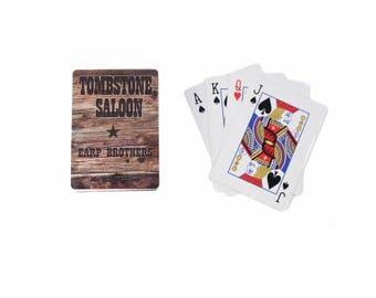 Tombstone Saloon Gambler Cards