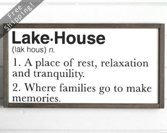 "Lake House Decor, Lakehouse Decorations, Lake House Sign, Lake Signs, Lake Decor, Lakehouse Sign, Lake House Decorations, 24""W x 12""H"