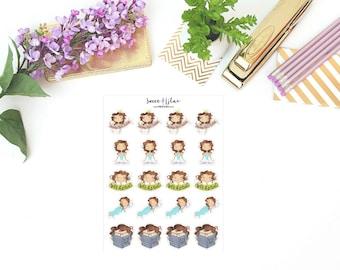 Planner Girl Becca, Sampler 2 - Character Planner Stickers