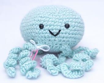 Amigurumi Stuffed Blue Jellyfish
