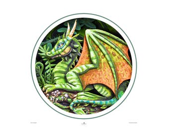 Large Print 'Forest Dragon' Fine Art Print