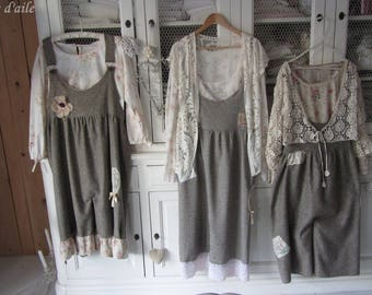 Overall shabby Tweed wool, with multiple customizations