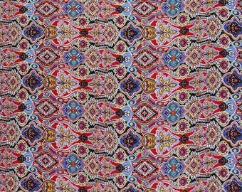 """Floral Print Fabric, Dress Material, Multicolor Fabric, Home Decoration, Craft Fabric, 42"""" Inch Polyester Fabric The Yard ZBP48A"""