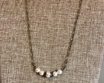 Antique vintage inspired pearl necklace