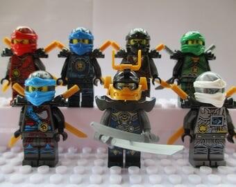 Ninjago Season 7 Mini Figures Nya Jay,Kai,Cole,Lloyd,Samurai X & Zane Fits All Lego Sets
