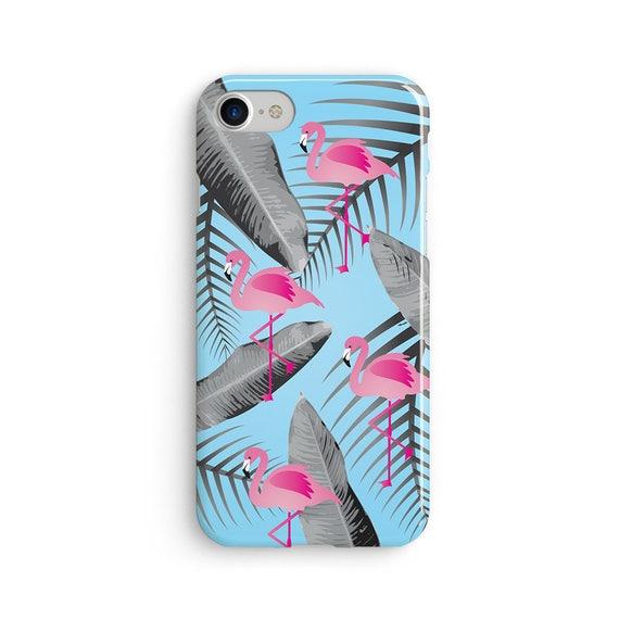 Flamingo blue tropical - iPhone 7 case, samsung s7 case, iphone 7 plus case, iphone se case 1P010