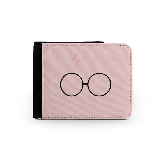 Harry P inspired pink scar and glasses wallet - Christmas present - Wallet for her - Printed wallet - 6P004