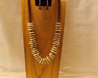 White Turquoise necklace and earring set