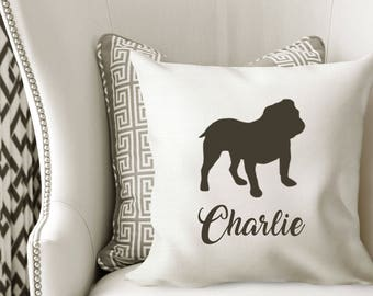 Personalized ENGLISH BULLDOG Pillow Cover