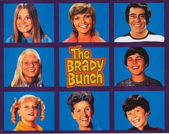 The Brady Bunch TV Show Grid Rare Vintage Poster