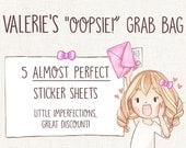 Planner Stickers Oopsie Grab Bag ~ Valerie ~ for Erin Condren, Life Planner, Journal or Diary