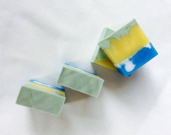 Pineapple Cilantro, Handmade soap, HoneyBarrel Soaps, Artisan Soap, Melt n Pour Soaps