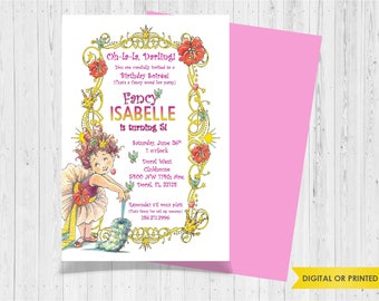 Fancy Nancy - Invite your guests with personalized party invitations - Digital or Printed - Birthday Invitation - Girl Birthday Party