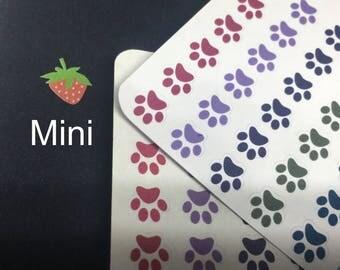 Paw print, cat, dog, pet, reminder, planner stickers, filofax, travelers notebook, mini, small, tiny, pocket F007