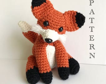 Crochet fox pattern, Sox the Fox, amigurumi Fox pattern, crochet fox, crochet animal pattern, crochet forrest animal