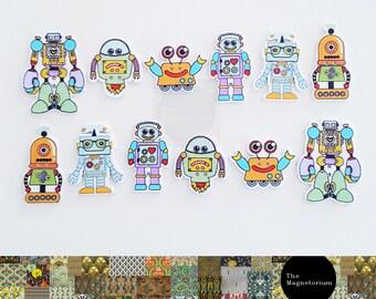 Robot Fridge Magnet Set