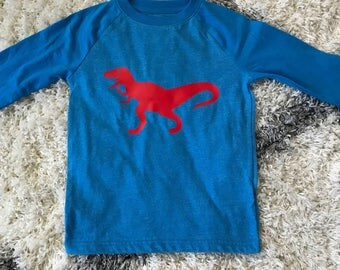 Boys personalized dinosaur shirt | jersey style tee | Boys' birthday shirt | Custom dinosaur shirt