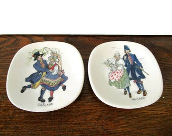 ONE Rorstrand Sweden Decorative Small Plate Swedish Vintage Swedish National Costumes Jackie Lynd Collectible item Made In Sweden Wedding