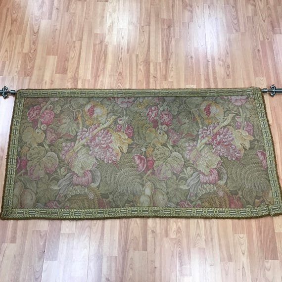 "2'2"" x 4'2"" Antique Chinese Tapestry - 1920s - Floral Design"
