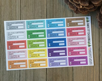 Function Online Purchase Tracking Planner Stickers
