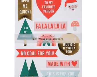 Meri Meri: Festive Gift Wrapping Stickers