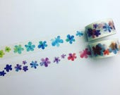 Bright watercolour flowers washi tape