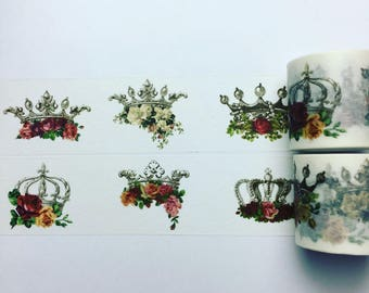 Floral crown washi tape