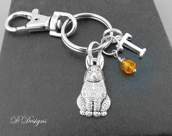 Rabbit gifts etsy rabbit bag charm rabbit keyring rabbit keychain rabbit gifts bunny clip keyring negle Gallery